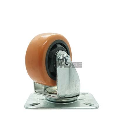 ล้อยูริเทนส้ม 3 นิ้ว แป้นหมุน